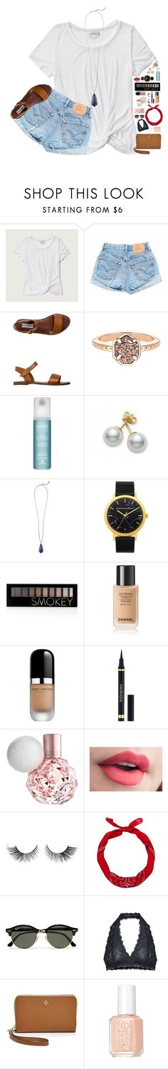 """don't kill my vibe//Lydia//@lydia-hh"" by prepsters-101 ❤ liked on Polyvore featuring Abercrombie & Fitch, Steve Madden, Kendra Scott, Alterna, Mikimoto, Forever 21, Marc Jacobs, Yves Saint Laurent, New Look and Ray-Ban"