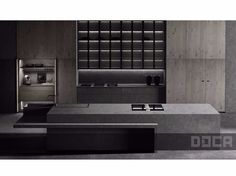 Download the catalogue and request prices of Luxury stone argus by Doca, kitchen with island