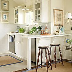 A neat and compact kitchen space.