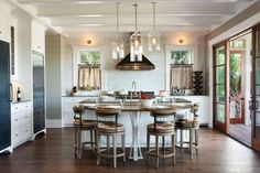 Steve Herlong Architects - Charleston, SC- lights in the back on the wall and hanging