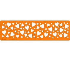 Stencil - Hearts Border - Random hearts of different sizes, ideal for that romantic cake! Heart Border, Valentines Day, Stencils, Hearts, Romantic, Random, Cake, Projects, Painting