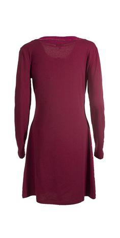 COLINE RO14623 šaty bordová S :: DRESS TO IMPRESS
