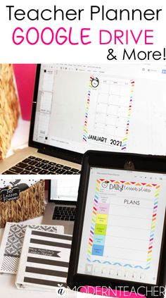 Time to upgrade your teacher binder and teacher planner! Keep everything at your fingertips when it's on Google Drive! #teacherbinder #teacherplanner #editableteacherbinder #teacherplannerprintables