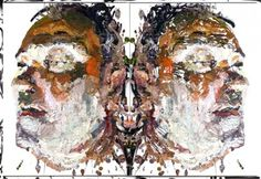 Ben Quilty's Rorschach Portraits - Beautiful/Decay
