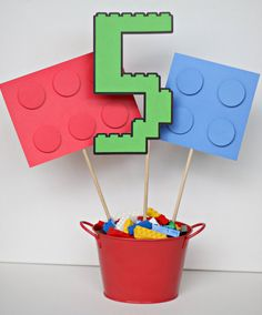 LEGO block inspired customized birthday party by ILoveYouBunches, $15.00