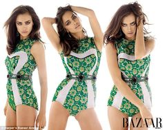 Love this retro green Prada swimsuit! If only I could look as good as the Russian supermodel in it!