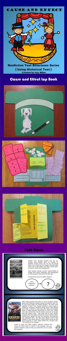 Students will have a blast with this magic themed unit. Cause and Effect from the Nonfiction Text Structures Series contains a variety of fun and engaging activities to aid in teaching text structures.$