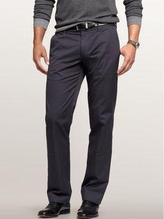 $59.50 Gap Navy pinstriped tailored pants; straight fit #pants #mens #menspants #mensfashion #gap