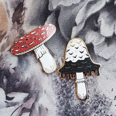 Mushrooms enamel pin set #LogoCore