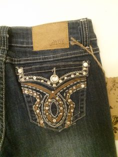Skinny Jeans Size 7 Way Jeans button back pocket w/ Rhinestones by NYCUrbanWear on Etsy