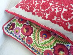 matyo and kalotaszeg embroidered cushion covers