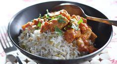 Indiase kipcurry met notenrijst