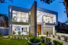 Real Build: Majestic, resort-style home in Sydney's north-west - The Interiors Addict Water Curtain, Resort Style, North West, Real Estate, Exterior, Mansions, House Styles, Building, Houses
