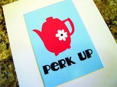fun coffee print