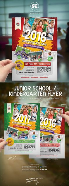 Kindergarten Junior School Flyer | Kindergarten, School And Brochures