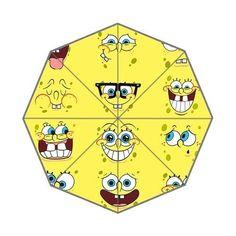 HomieProduct Cartoon Spongebob Squarepant Custom Auto Foldable Umbrella 01 @ niftywarehouse.com #NiftyWarehouse #Spongebob #SpongebobSquarepants #Cartoon #TV #Show