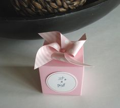 25 Pink Pinwheel Favor Box for Baby Shower by sweetpartybliss, $42.50