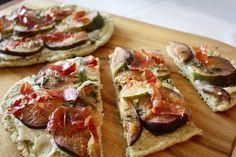 Naanpizza met vijgen en ricotta