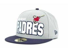 "San Diego Padres MLB New Era 59Fifty ""Big Bold"" Fitted Hat New #NewEra #SanDiegoPadres"