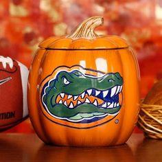 Florida Gators Ceramic Pumpkin Jar
