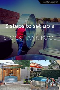 3 easy steps to create your own stylish and affordable stock tank pool! 3 easy steps to create your own stylish and affordable stock tank pool! Pool Diy, Oberirdischer Pool, Swimming Pools, Stock Pools, Stock Tank Pool, Pergola, Porche, Small Pools, In Ground Pools