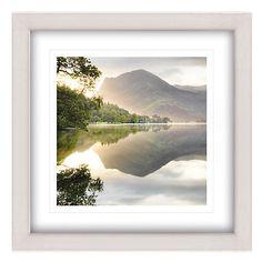 Buy Mike Shepherd - Sunrise On Butter Framed Print, 65 x 65cm Online at johnlewis.com