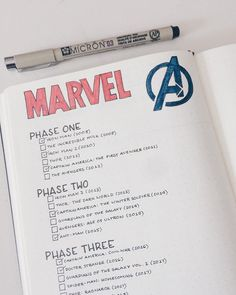 Bullet journal layout ideas - Marvel Comics Here's our huge list of bullet collection ideas, along with loads of examples. From the most basic, to the more extreme bullet journal collection ideas! Bullet Journal Tracker, Bullet Journal Spread, Bullet Journal Inspiration, Bullet Journals, Bullet Journal For Men, Bullet Journal Tv Series, Bullet Journal Timetable, Bullet Journal Essentials, Bullet Journal Student