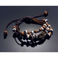 a0a16e9dc1ac Bohemia designs friendship bead charm leather bracelet for men. Abalorios Pulseras Para HombresPulseras ...