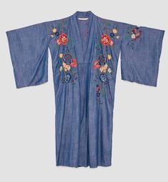 7488d18ed NWT Zara Woman Floral Embroidered Kimono Blue Denim Size M Medium | eBay  Kimono Jacket,
