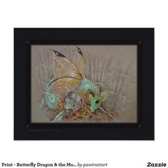 Print - Butterfly Dragon & the Mouse