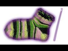 носки инструкция вязание крючком - YouTube