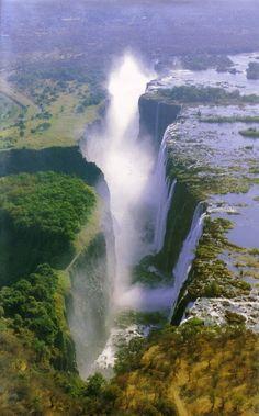 Victoria Falls, Zambia.  Stunning natural beauty, with few guard rails.