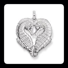 Sea horse heart pendant from Thomas Sabo. Made from sterling silver, white zirconia stones. Available from RADS! #seahorse #heart #pendant #silver #silverfashion #necklace  #rebel #thomassabo #toronto #torontofashion #torontojewellery #lovetoronto #yyz #yorkville #yorkvillestyle #yorkvillejewellery #fashion #style #womens #womensfashion #womensjewellery #womenswear #women #gift #christmas #lovetoronto #nofilter