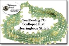 Scalloped Flat Herringbone Stitch