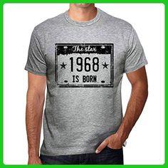 The Star 1968 is Born Men's T-shirt Grey Birthday Gift - Birthday shirts (*Amazon Partner-Link)