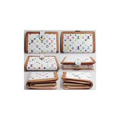 Louis #vuitton Monogram Multicolor M92987 Tamaguchi Fold Purse Wallet Multi Color White Bronze