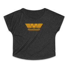 Weyland Corp Building Better Worlds Women's Tri-Blend Dolman T-Shirt Worlds Of Fun, Size Chart, Building, Fabric, Cotton, T Shirt, Tops, Fashion, Tejido