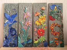 Flower mosaics by yulia hanansen yulia hanansen mosaic art – Artofit Sea Glass Mosaic, Mosaic Tile Art, Mosaic Diy, Mosaic Garden, Mosaic Crafts, Mosaic Projects, Stone Mosaic, Mosaic Flowers, Stained Glass Flowers
