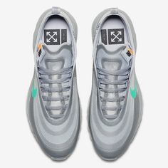 Off white nike air max 97 menta 101 sneakernews com Green And Grey, Grey And White, Off White, White Wolf, Nike Air Max White, Goals And Objectives, Healthy People 2020 Goals, Air Max 270, Nike Sportswear
