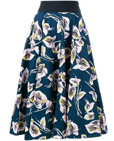 MARNI Floral Print Midi Skirt. #marni #cloth #