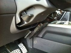 Solid Leather Gun Holster - Mounts Anywhere in Your Car, Home or Office.