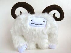 Cute Monster Yeti: Geoffrey the Yeti. $50.00, via Etsy.