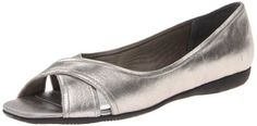 Trotters Womens Savannah Ballerina FlatSoft Pewter85 M US * To view further for this item, visit the image link from Amazon.com