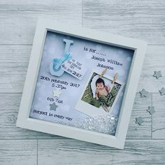 /- First Grandchild Picture Frame Baby Memory Frame Baby Shower Gifts of Double Frame Brown Newborn Baby Gift 1 Landscape and 1 Portrait Style PKaL Baby Picture Frame I Love You Three Thousand