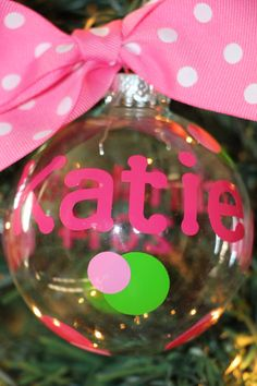 Personalized Name Ornament - Christmas Ornament  #Christmas #Christmas2015 #holidaydecor #ChristmasParty #ChristmasDecorations