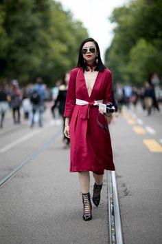 Milan Fashion Week Spring 2017 Street Style - 9/22/2016