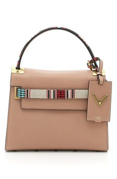 Valentino 'Small My Rockstud' Beaded Leather Satchel