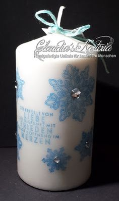 Claudia's Karteria Candle Lanterns, Pillar Candles, Blog, Jar, Crafts, Home Decor, Boxes, Bricolage, Candles