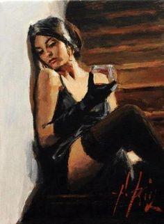 Fabian Perez -- Pinned by FutureEdge via Indulgy Fabian Perez, Wine Art, Pulp Art, Figure Painting, Sexy Painting, Portrait Art, Portraits, Erotic Art, Aesthetic Art