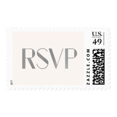 #wedding #responsecards - #Modern Art Deco Text | Blush and Faux Silver RSVP Postage